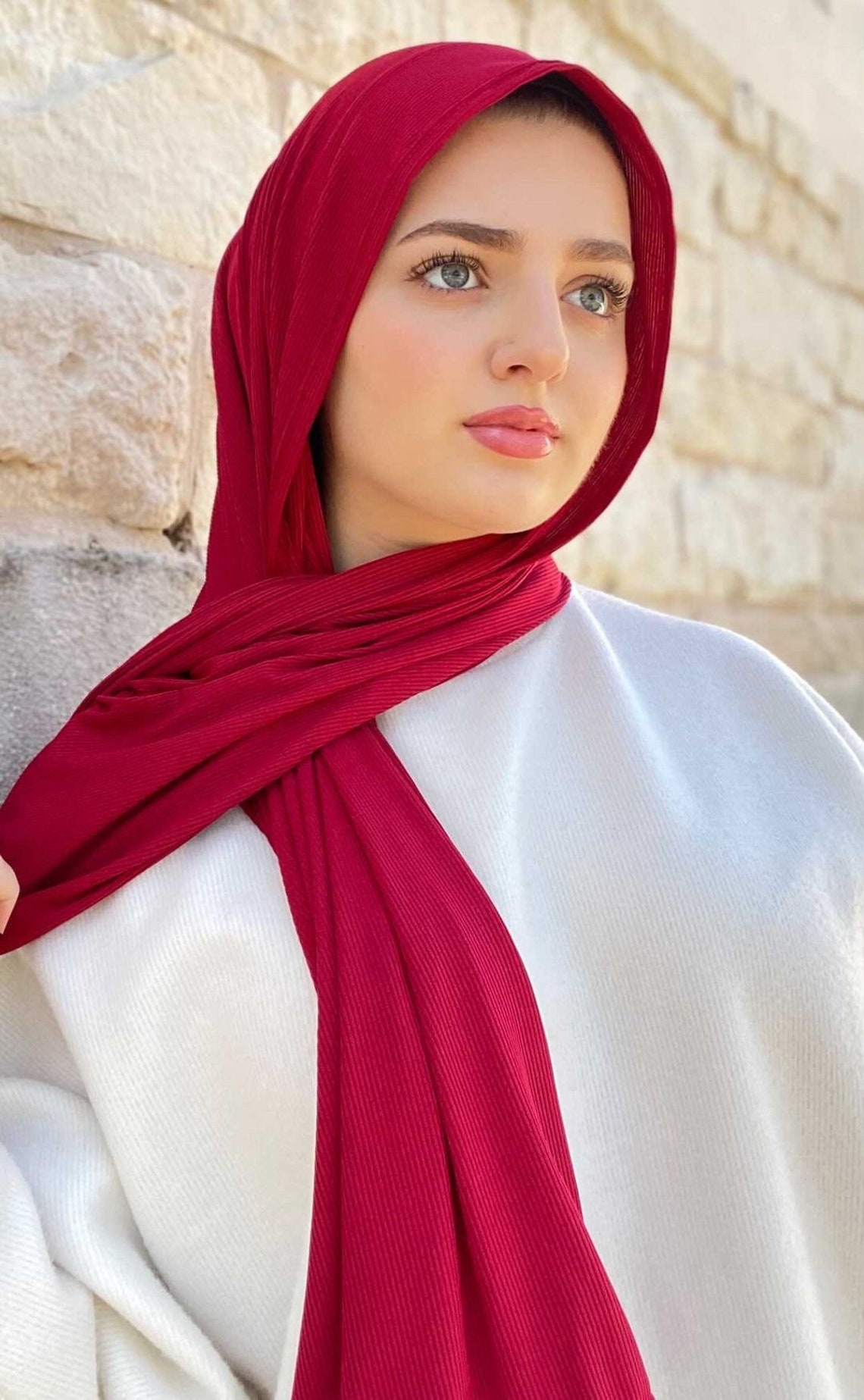 Soft Premium LUXURY Ribbed Jersey Hijab Long Length Scarves   Etsy