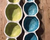 Appetizer Tray, Ceramic Serving Dish, Ceramic Serving Tray, Succulent Planter, Succulent Pot, Succulent Tray, Garden Lover, Garden Gift,