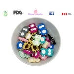 silicone Racoon bead,teething, teether, baby shower gift