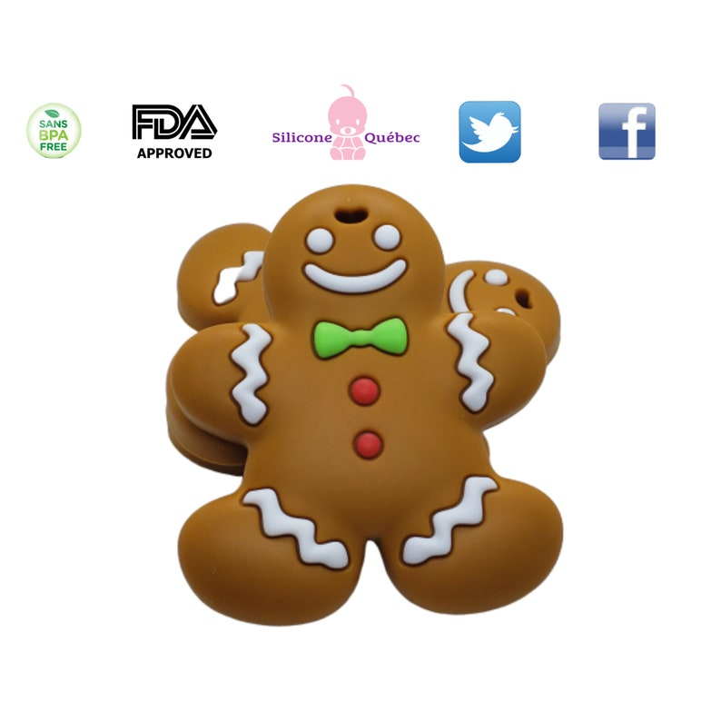 ginger bread teething toy silicone teether silicone image 0