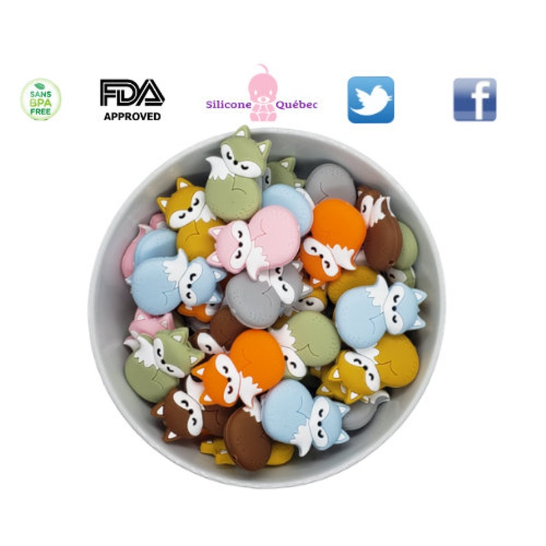 Fox full body beadpacifier clipshower gifttoy image 0