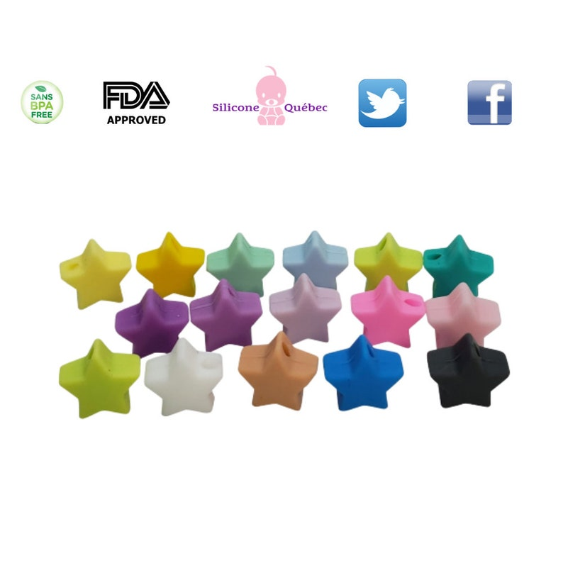 Small star 14mm teething teether baby shower gift image 0