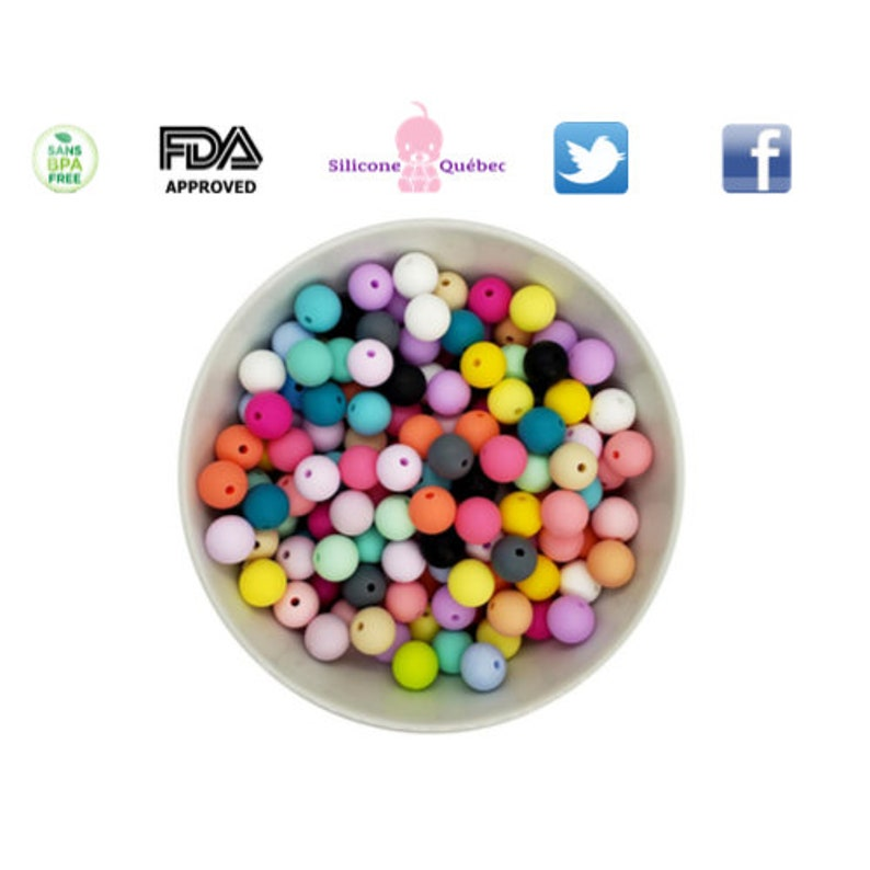 round 12mm beads  teething teether baby shower gift image 0