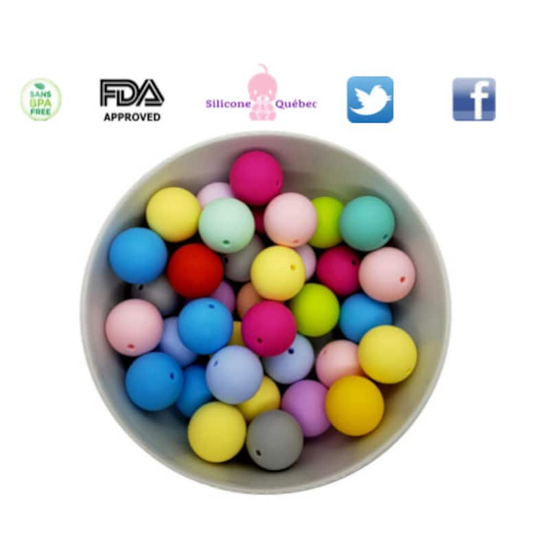 round 20mm beads  teething teether baby shower gift image 0