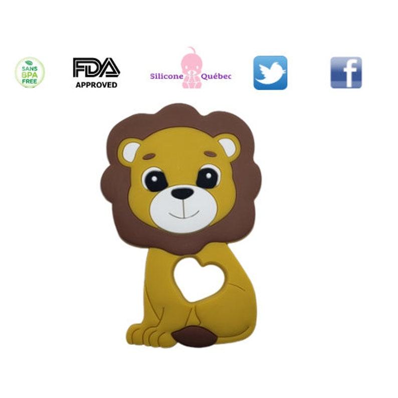 Lion teetherteething toysiliconehaloweenchristmaschewelry image 0