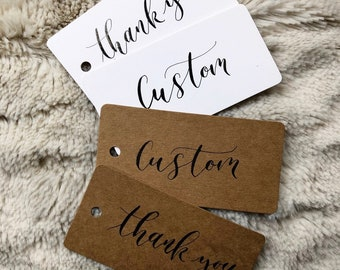 Shipping Tags Customised Present Labels Name Tags Modern or Traditional Calligraphy Personalised Gift Tags Pack of 5 Placecards