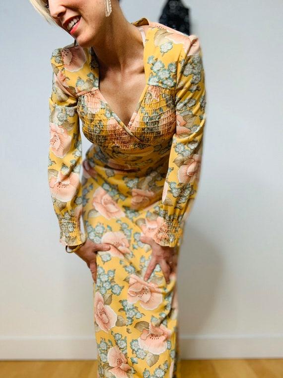 1970's Flower Dress