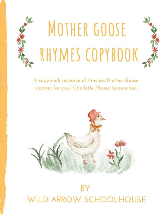 Mother Goose Nursery Rhymes Copybook Charlotte Mason Etsy