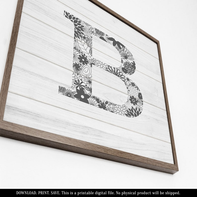 graphic relating to Printable Letters for Signs named Wooden Letter B, Printable Letters for Wall, Printable Picket Symptoms, Picket Lettering, Rustic Letter Decor, Farmhouse Lettering, Grey and White