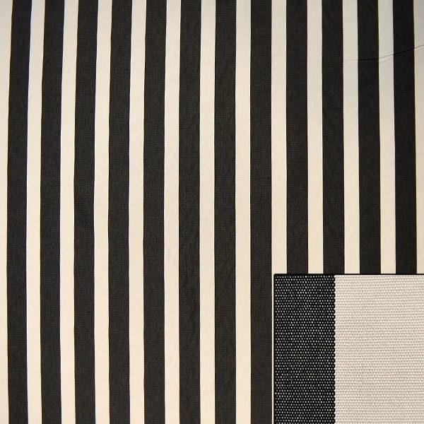 Tissu | d'ameublement | Tissu Noir et blanc rayures 65