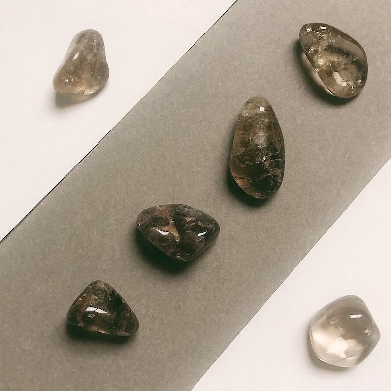 Smoky Quartz Crystal Tumbles for grounding and energy transmutation