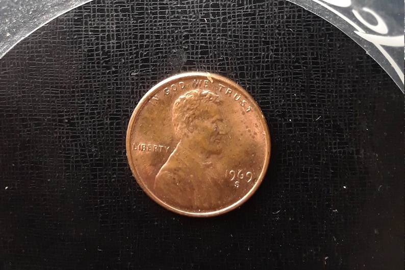 1969 S Doubled Die Observed Coin, red color Free Shipping