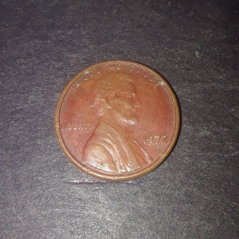 1972 Lincoln Penny, MS67 Floating D, the rarest Doubled Die #4 46 years old  and beautiful in colors Red Brown, see the descriptions