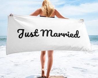Just Married Handdoek.Just Married Towel Etsy