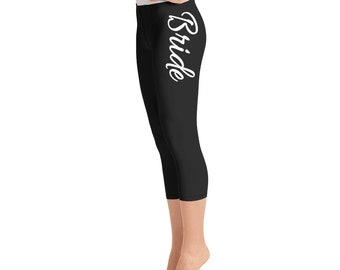 fd27565e6 Bride Yoga Capris - Black   White