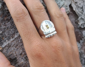 Twisted Eternity Ring Love Ring for Women Commitment Ring Dainty Stacking Ring Amore Ring Mobius Ring