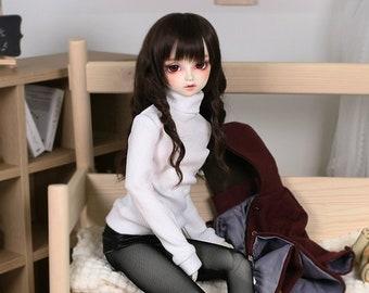 BJD  SD SD9 SD13 turtleneck knit sweater miniskirt For SD Dollfie dream Smart doll 60cm 1/3 doll