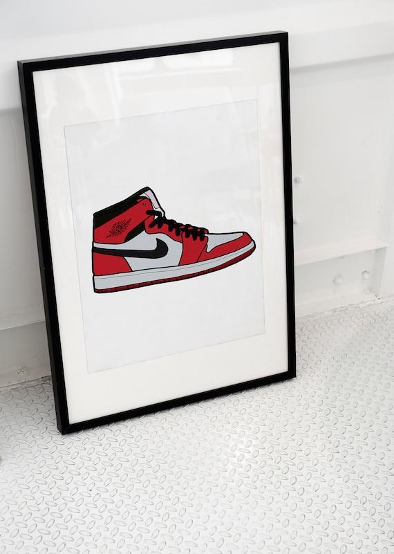 Jordan sneaker art print jordan poster