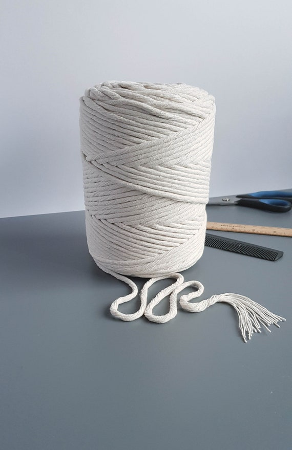 Single Strand Cotton Cord 4mm Macrame Cord 590 feet Macrame Rope for DIY Crafts