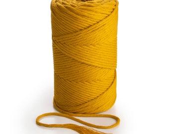 MUSTARD macrame rope 3mm single twist rope Macrame rope and cord