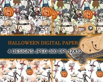 The Nightmare before Christmas Halloween digital paper-INSTANT DOWNLOAD