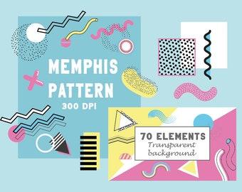 Memphis pattern | Etsy