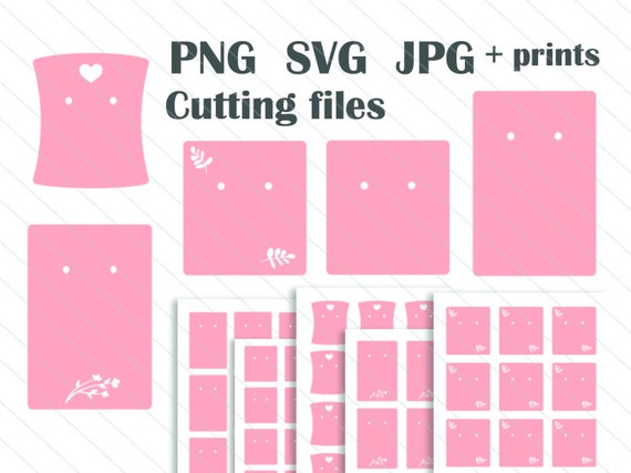 Earring Card Display Template Cutting Files For Packaging Svg Etsy