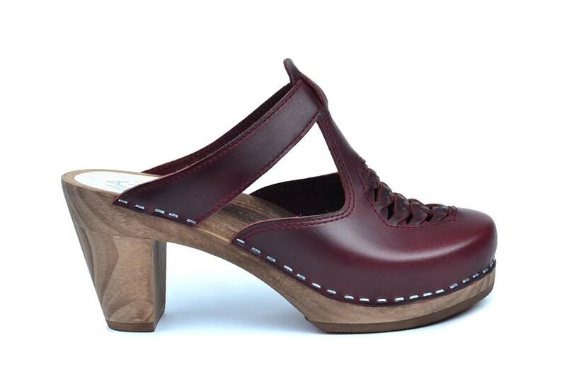 2df742ae445ec Swedish High Heel Clogs Bordeaux   Maguba Clogs   Nairobi Bordeaux
