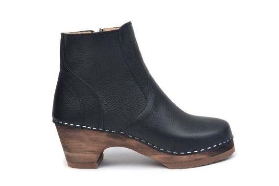 Swedish Low Heel Clog Boots / Auckland