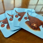 Hairy Coo-sters: Highland cow Christmas coasters