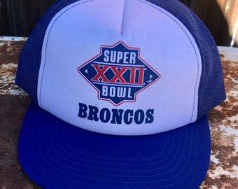 1a6aaf857 Vintage Denver Broncos Super Bowl XXII Snapback Hat