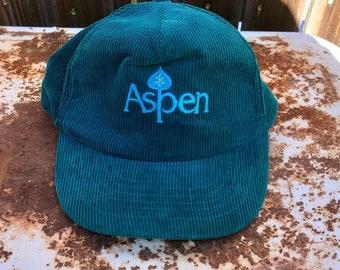 00c10e9d7d7 Vintage Aspen Colorado Corduroy Snapback Hat