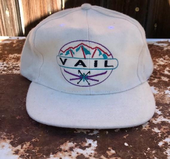 Vintage Vail Wool Ski Baseball Hat  c10bc358ecc