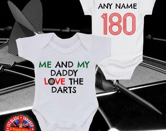I Love Darts like Daddy Baby Bib