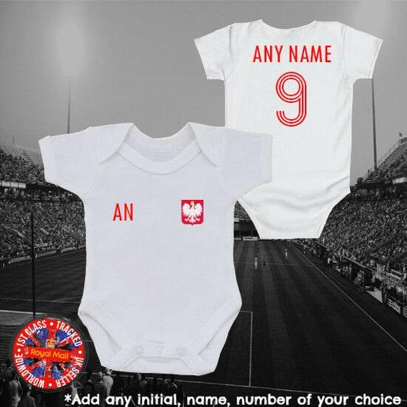 Personalised Polska Poland Kibic 2019 Baby Kids  Grow Body Suit Vest
