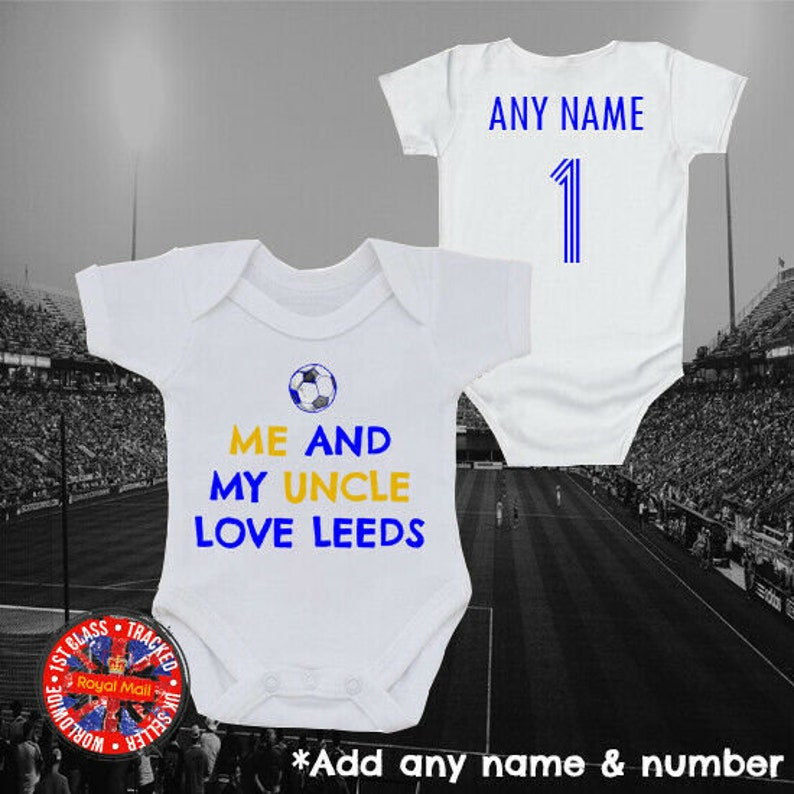 """Millwall Inspired Football /""""Born to play for/"""" Personalised Babygrow Gift ideas"""
