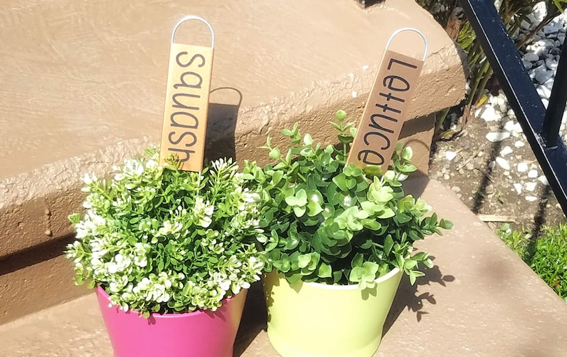 Copper Plant Markers| Garden Stakes| Metal Herb and Vegetable Markers|  Ready to Ship| Unique Garden Decor| Spring Decor| Crop Identification