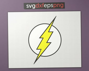 flash logo svg etsy