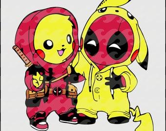 f111b463 Deadpool svg, Superhero svg, deadpool cliart, marvel svg, deadpool vector,  pikachu svg, pokemon svg, T-shirt for bestie, Best friend gift.