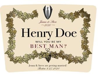 Hennessy label | Etsy