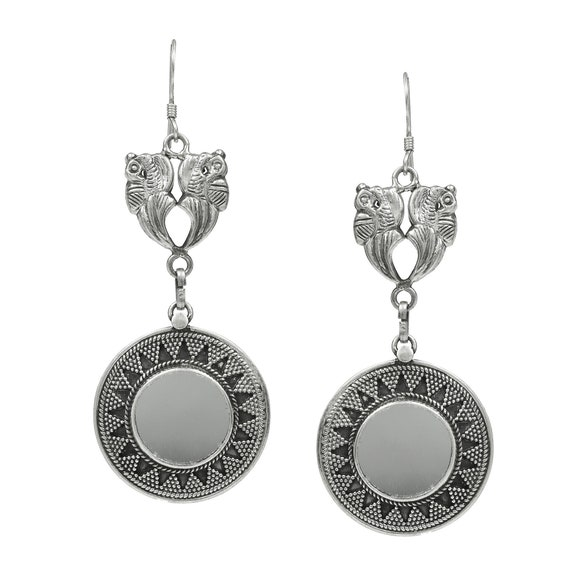 Gift for her 925 Sterling Silver Vintage Jaipur India Hallmarked Tribal Dangle Drop Traditional handmade earrings