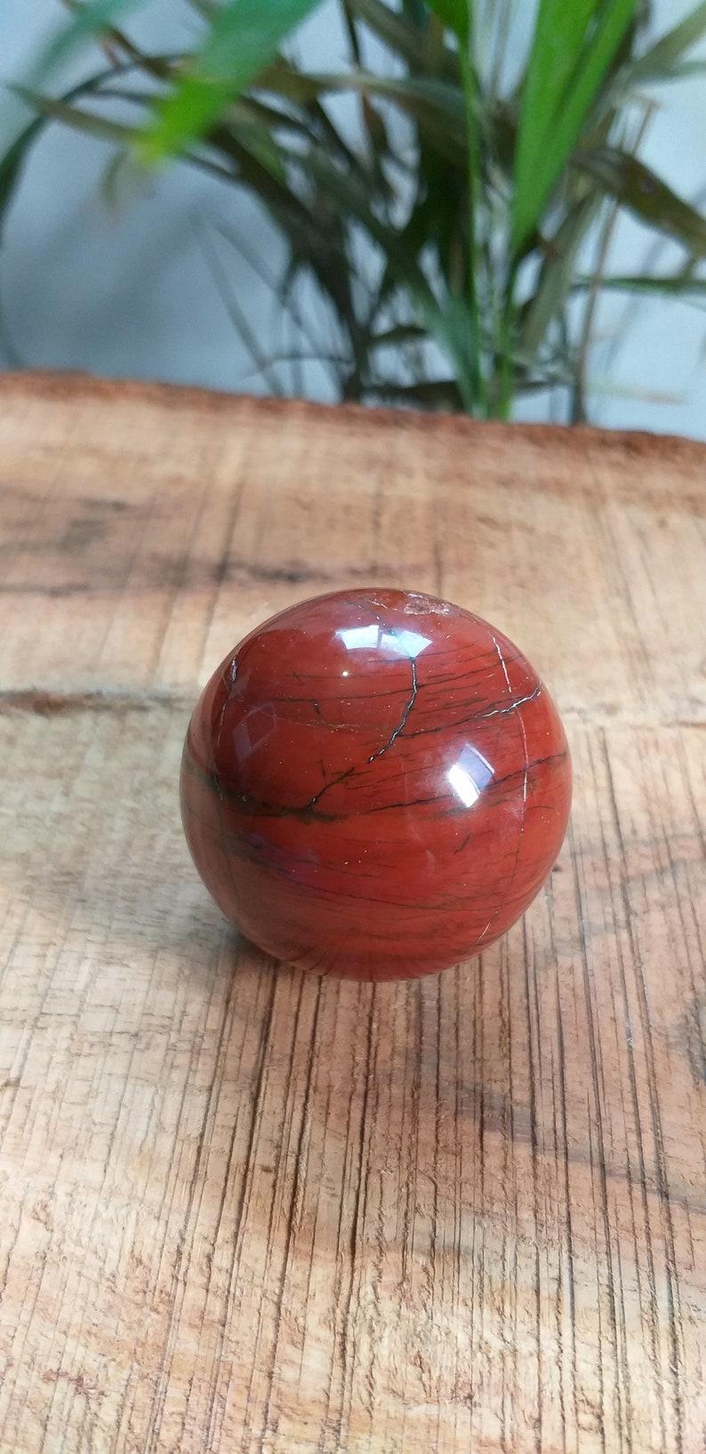 42 MM Natural Beautiful Red Jasper Sphere Gemstone Sphere Silversmith Specimen Red Jasper Healing Crystal  Jasper Sphere Home Decor Sphere