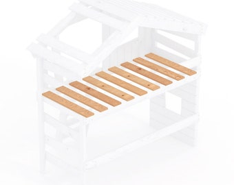 Slatted grate - rolling grate - solid boards of pine 25 mm thickness (90 x 200 cm)
