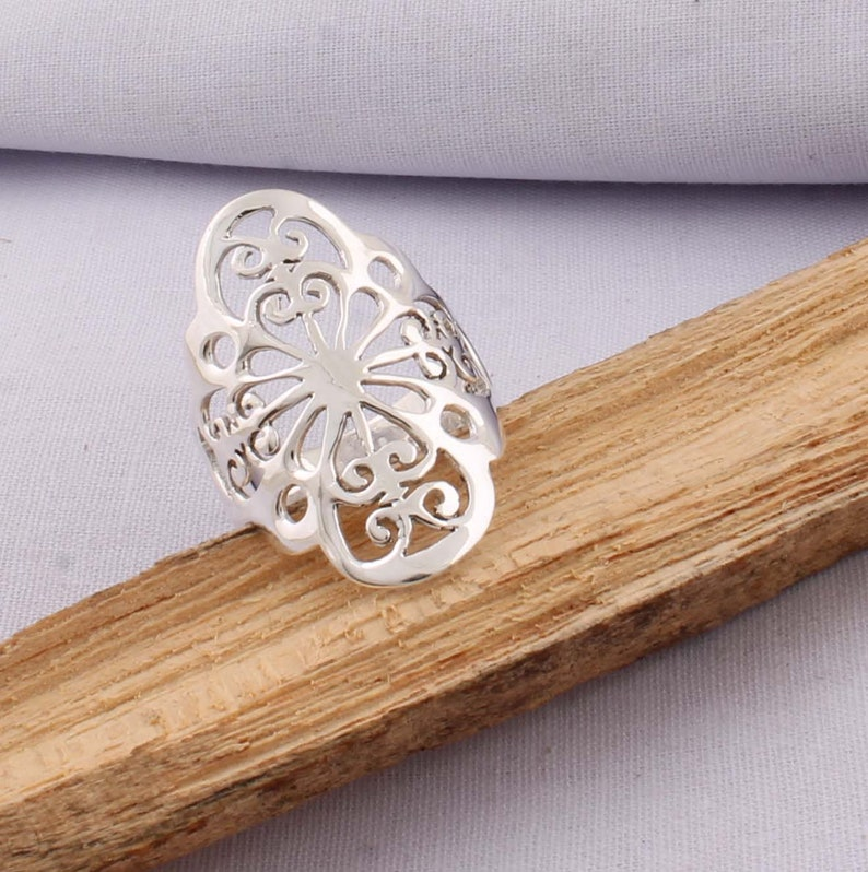 Plain Silver Ring Gift For Her Middle Finger Ring 925-Sterling Silver Ring,Antique Silver Ring,Handcrafted Boho Ring,Wedding Ring