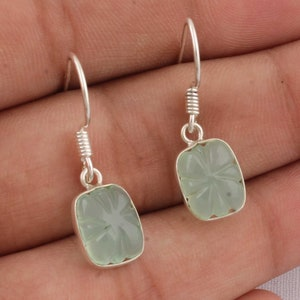 Solid Silver Amazin Top Quality Gemstone Handmade Earring Cabochon Stone Boho Earring 925-Antique Silver Earring Etsy Cyber ValentiCyber2021