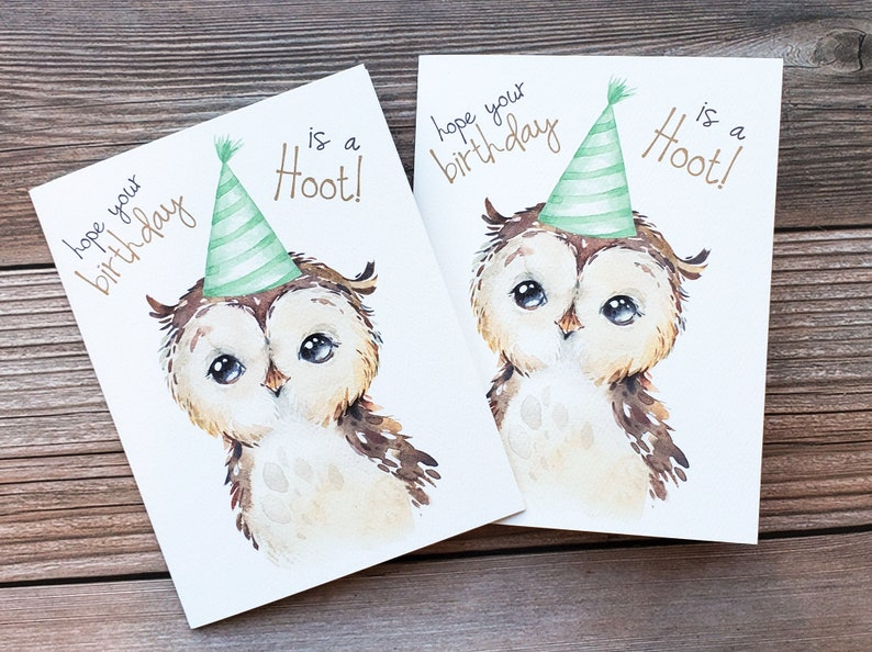for mom for her funny birthday card Happy Birthday Card for him for sister birthday pun owl birthday card Recycled Greeting Card