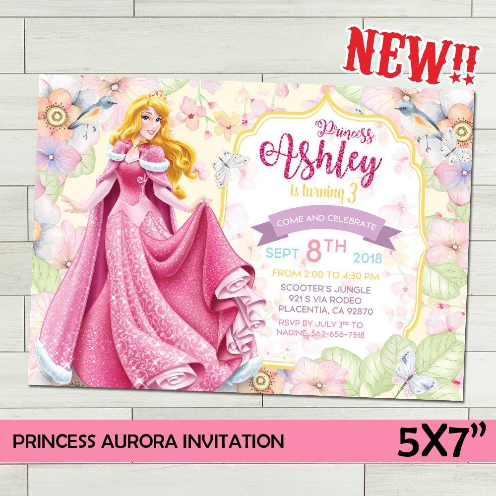 Princess Birthday Invitation Aurora