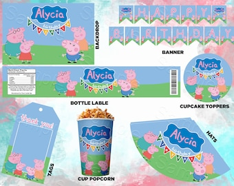 Peppa Pig Party Supplies Etsy