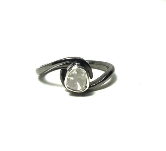 Details about  /Slice Polki Diamond Handmade 925 Sterling Silver Jewelry Rings Christmas Gifts