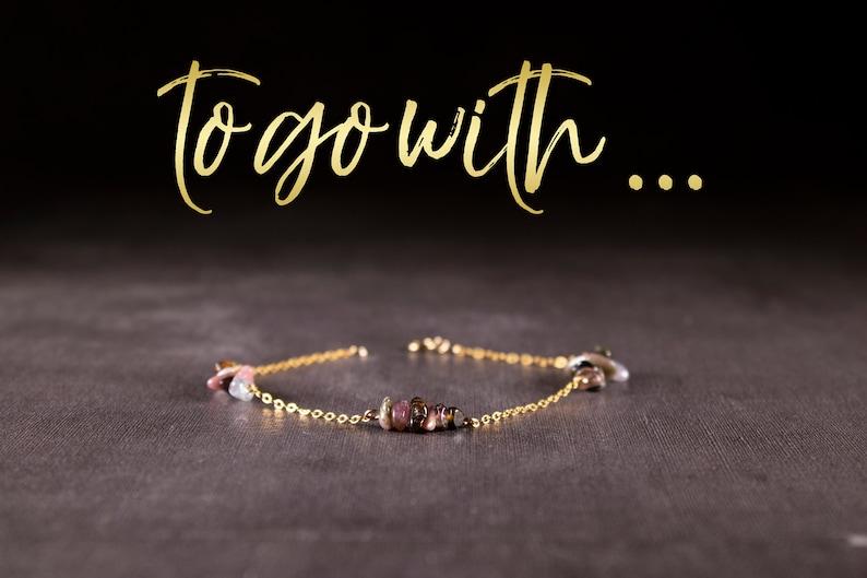 Watermelon tourmaline necklace genuine tourmaline bar necklace October birthstone gift for her